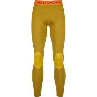 Ortovox 185 Merino Rock'n'Wool Long Pants M, yellow corn blend - Unterhose