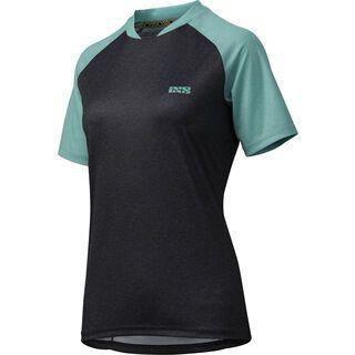 IXS Progressive 7.1 Trail Lady Jersey, black turquoise - Radtrikot