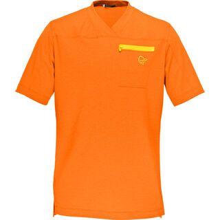 Norrona Fjørå Equaliser Lightweight T-Shirt, pure orange - Radtrikot