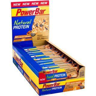 PowerBar Natural Protein (Vegan) - Salty Peanut Crunch (Box) - Proteinriegel