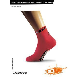 Assos spring/fall Socks (coolmax), rot - Radsocken