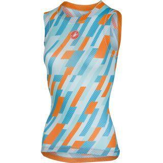 Castelli Pro Mesh W Sleeveless, glacier lake/orange fluo - Unterhemd
