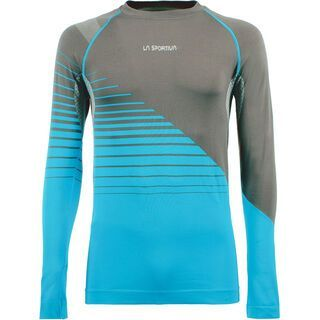 La Sportiva Artic Long Sleeve M, carbon/tropic blue - Funktionsshirt