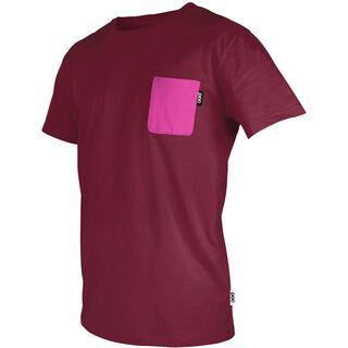 POC Pocket Tee, solder red/neon pink - T-Shirt