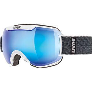 uvex downhill 2000 FM, white/Lens: mirror blue - Skibrille