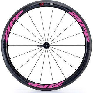 Zipp 303 Firecrest Carbon Clincher, schwarz/pink - Vorderrad