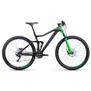 Cube Stereo 120 HPC Pro 29 2015, black grey green - Mountainbike
