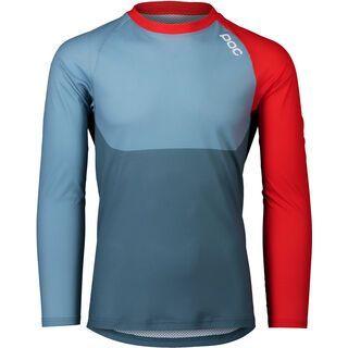 POC MTB Pure LS Jersey, blue/prismane red - Radtrikot