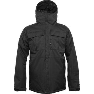 686 Authentic Moniker Jacket, Black Herringbone Denim - Snowboardjacke