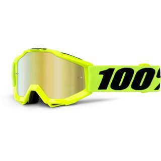 100% Accuri Youth, fluo yellow/Lens: mirror red, clear - MX Brille