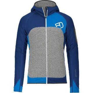 Ortovox Fleece Plus Merino Hoody, strong blue - Fleecehoody