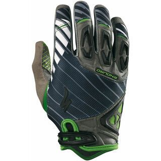 Specialized Enduro, Carbon/Green - Fahrradhandschuhe