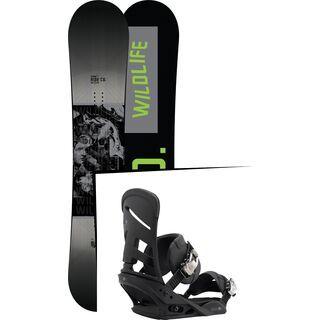 Set: Ride Wild Life Wide 2017 + Burton Mission 2017, black - Snowboardset
