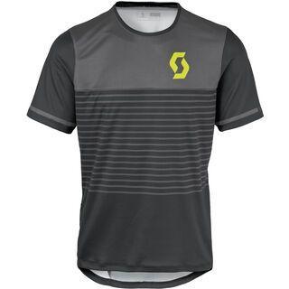 Scott Trail Flow s/sl Shirt, black/yellow - Radtrikot