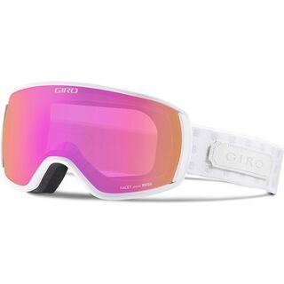 Giro Facet, white cross stitch/Lens: amber pink - Skibrille