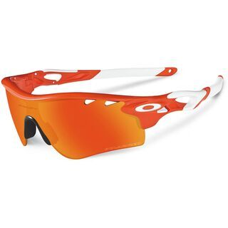 Oakley Radarlock Path Vented, Blood Orange/Fire Iridium Polarized & Black Iridium - Sportbrille
