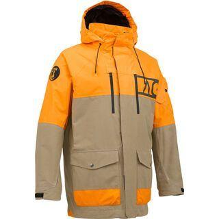 Analog Anthem Jacket , Tan/Safety Orange - Snowboardjacke