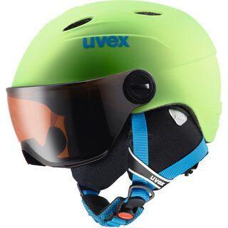 uvex junior visor pro, applegreen mat - Skihelm