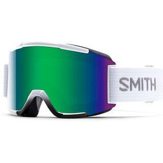 Smith Squad + Spare Lens, white/green sol-x mirror - Skibrille