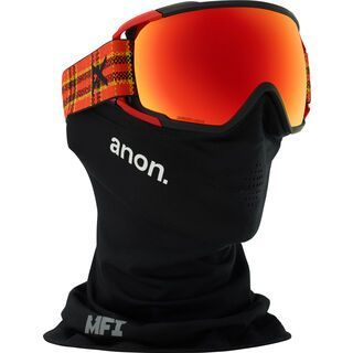 Anon Circuit MFI, flannel/Lens: sonar red - Skibrille