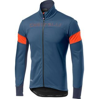 Castelli Transition Jacket, steel blue/orange - Radjacke