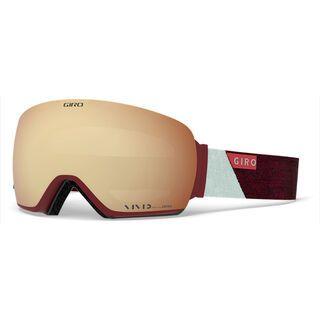 Giro Lusi inkl. WS, scarlet grey peak/Lens: vivid copper - Skibrille