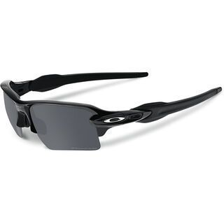 Oakley Flak 2.0 XL Polarized, polished black/Lens: black iridium - Sportbrille