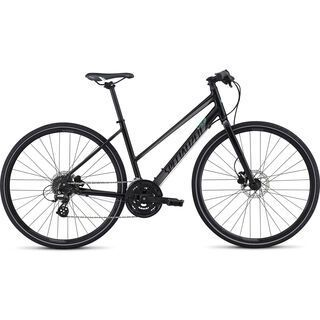 Specialized Vita Disc Step Through 2017, black/silver/green - Fitnessbike