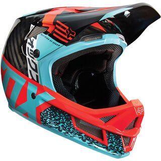 Fox Rampage Pro Carbon Helmet, aqua - Fahrradhelm