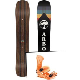 Set: Arbor A-Frame 2019 + Nitro Team muted brights series orange