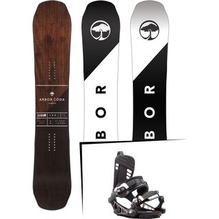 Set: Arbor Coda Camber Mid Wide 2017 + K2 Cinch CTX 2017, black - Snowboardset