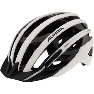 Alpina E-Helm Deluxe, white black reflective - Fahrradhelm