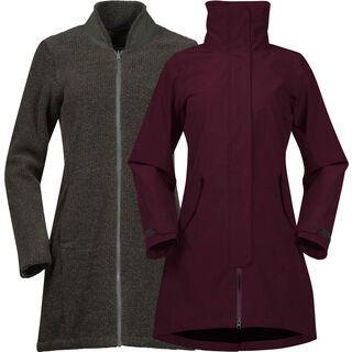 Bergans Oslo 3in1 W Coat, zinfandel red - Mantel