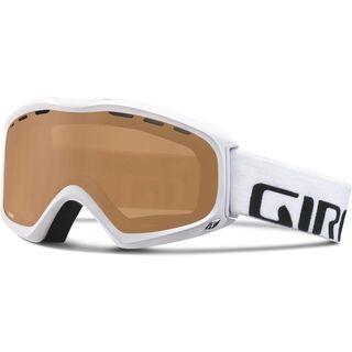 Giro Focus, white wordmark/amber rose - Skibrille