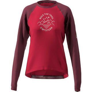 Zimtstern PureFlowz Shirt LS Women's, red/windsor wine/green - Radtrikot