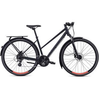 Specialized Crosstrail Step-Through EQ - Black Top Collection 2019, black/red - Fitnessbike