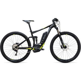Cube Stereo Hybrid 120 HPA Pro 500 27.5 2017, black´n´flashyellow - E-Bike