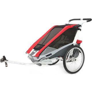 Thule Chariot Cougar 1 inkl. Fahrrad-Set, rot - Fahrradanhänger