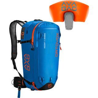 Ortovox Ascent 30 Avabag Kit, ohne Kartusche, blue ocean - Lawinenrucksack