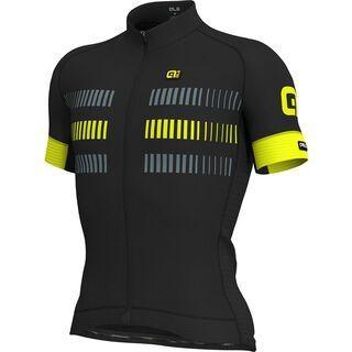 Ale Strada Jersey, black-fluo yellow - Radtrikot