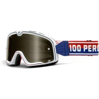 100% Barstow Classic, white/Lens: smoke mirror - MX Brille