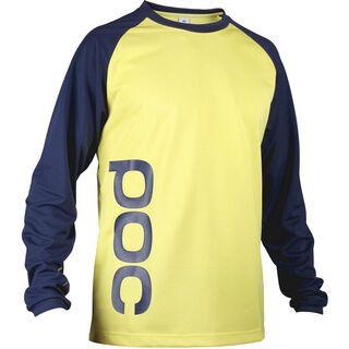 POC Flow Jersey, Boron Blue/Fermium Yellow - Radtrikot