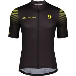 Scott RC Team 10 S/Sl Men's Shirt, black/sulphur yellow - Radtrikot
