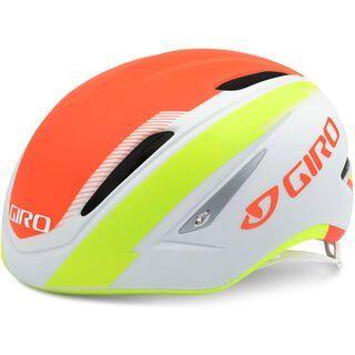 Giro Air Attack, white lime flame - Fahrradhelm