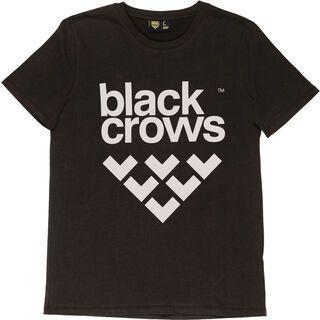 Black Crows Full Logo Tee, black/white - T-Shirt