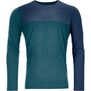 Ortovox 150 Cool Logo Long Sleeve M, mid aqua - Funktionsshirt