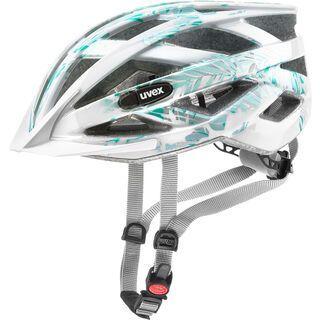 uvex air wing, white green - Fahrradhelm