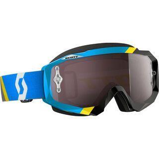 Scott Hustle MX, asymmetric blue/black silver chrome - MX Brille