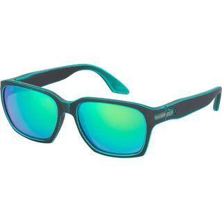 Scott C-Note, black matt/teal green green chrome - Sonnenbrille
