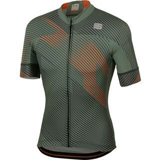 Sportful BodyFit Team 2.0 Faster Jersey, green/orange - Radtrikot